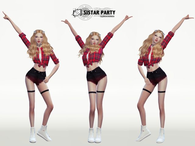SISTAR PARTY POSES SET by flowerchamber