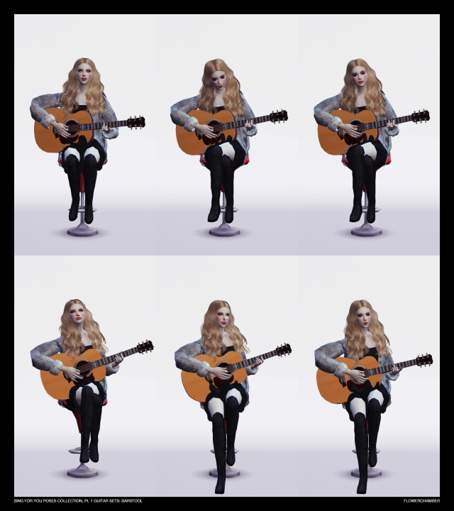SING FOR YOU Poses collection, pt.1: Guitar Sets by Flower Chamber