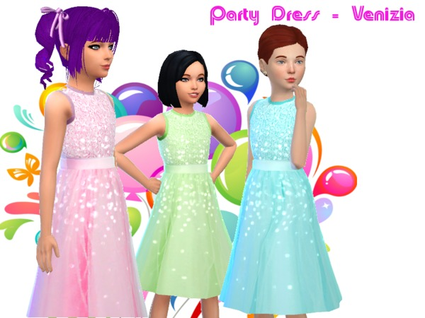 Party Dress - Venizia by chuvadeprata