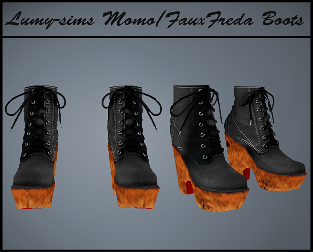 Momo Faux Freda Boots by Lumy-Sims