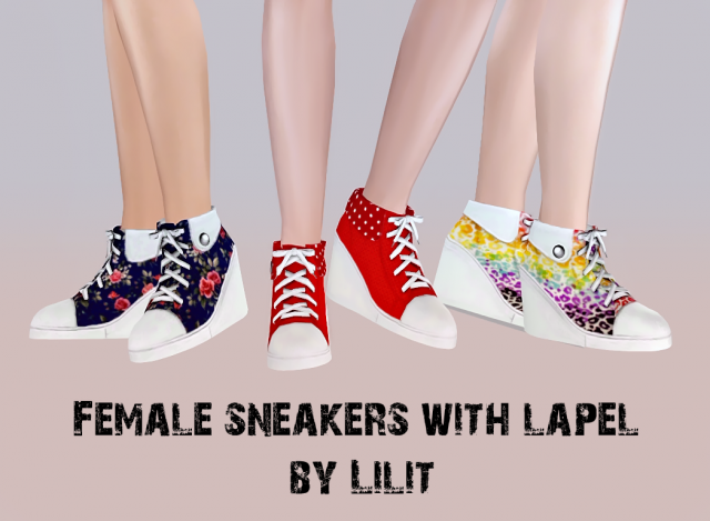 Female sneakers with lapel от Lilit