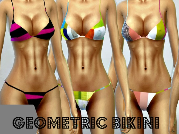 Geometric Bikini - accessory - mesh needed by sims4sisters