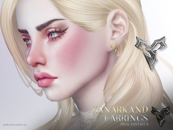 Zanarkand Earrings by Pralinesims
