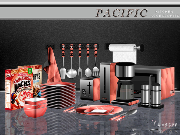 Pacific Heights Kitchen Accessories by NynaeveDesign