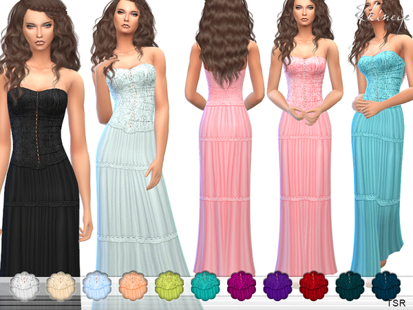 Strapless Maxi Dress by ekinege