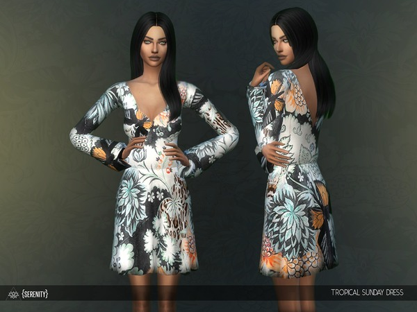 Tropical Sunday Dress by serenity-cc