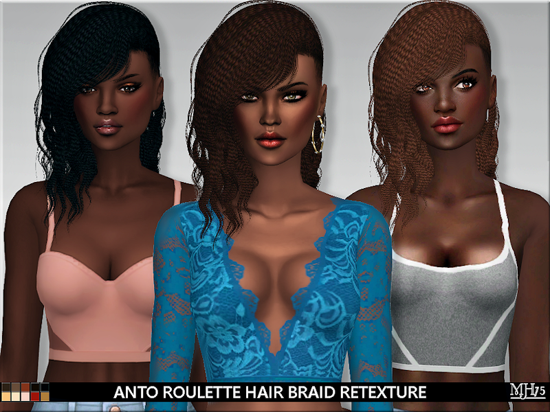 Roulette Hair Braid Retexture by Margie