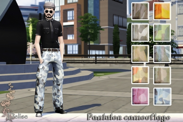 Camouflage Cargo Pants by Delise