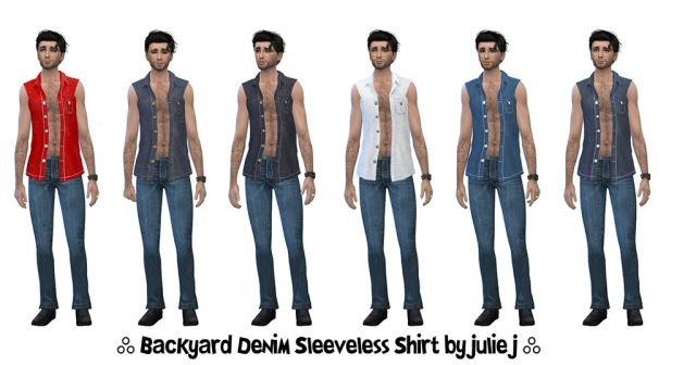 Sleeveless Denim Shirt by Julie J