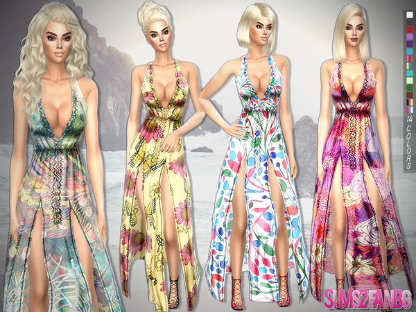 200 - Bohemian summer dress by sims2fanbg