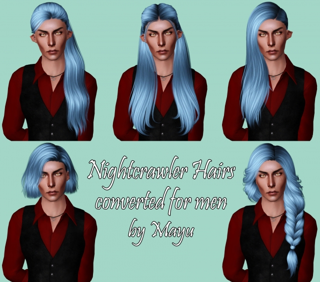 Nightcrawler Hairs converted for men by Mayu