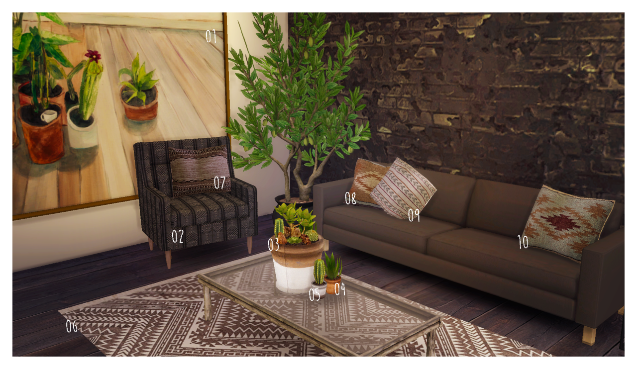 TS3 August Living Room Set Conversions by TempdiaSims
