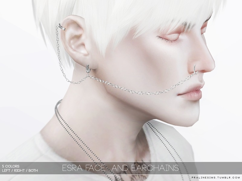 Esra Face and Earchains by Pralinesims