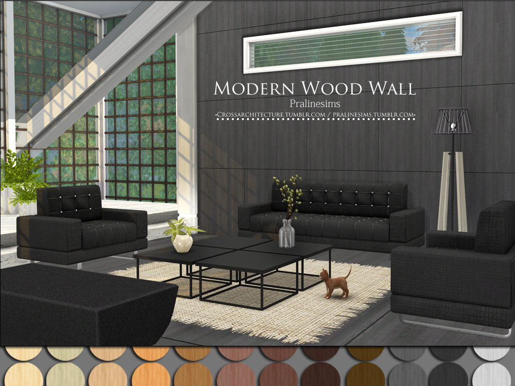 Modern Wood Wallpaper and Floors by PralineSims