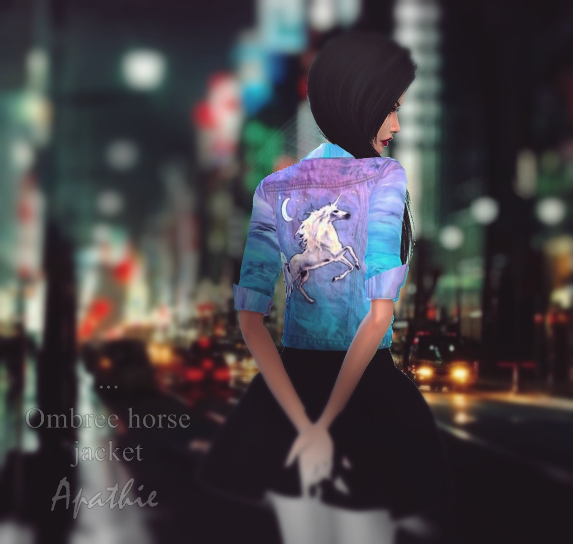 Ombre Horse Jacket by Apathieee