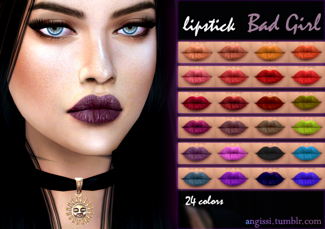 lipstick - bad girl by ANGISSI