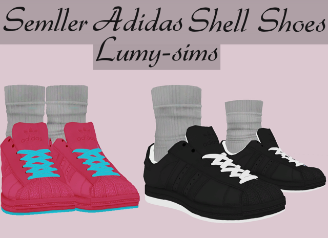 Semller Adidas Shell Shoes by Lumy-Sims