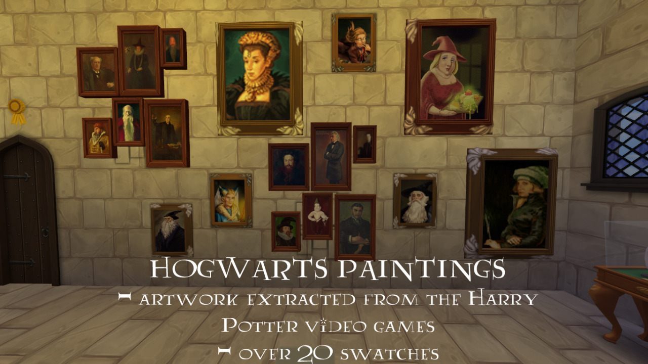 Updated - Hogwarts Stuff - Over 100 Conversions, Recolors and New Meshes by BrittpinkieSims