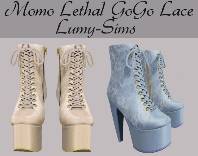 Momo Lethal GoGo Lace Boots by Lumy-Sims