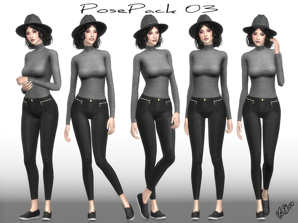 Pose Pack 03, CAS + Ingame by Ms Blue
