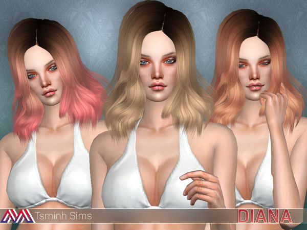 Diana (Hair 16 Set) by TsminhSims