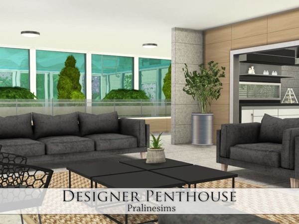 Designer Penthouse by Pralinesims