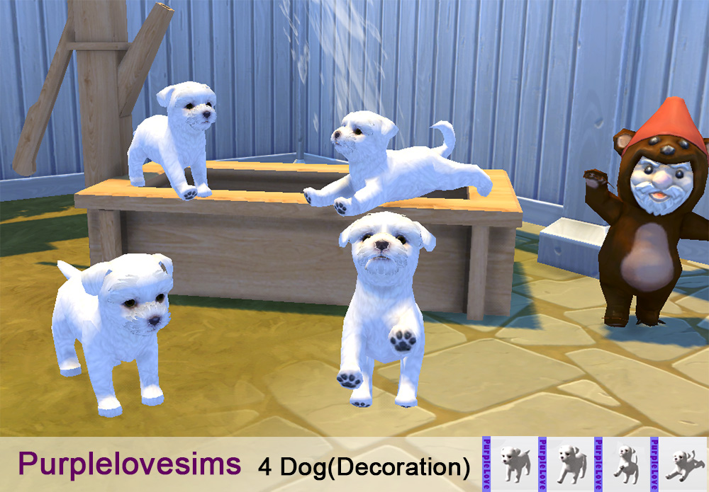 Decorative Dogs by PurpleLoveSims