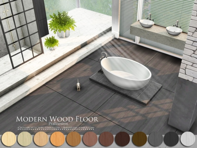 Modern Wood Floor by Pralinesims