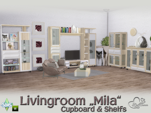Mila Living Cupboard & Shelfs by BuffSumm