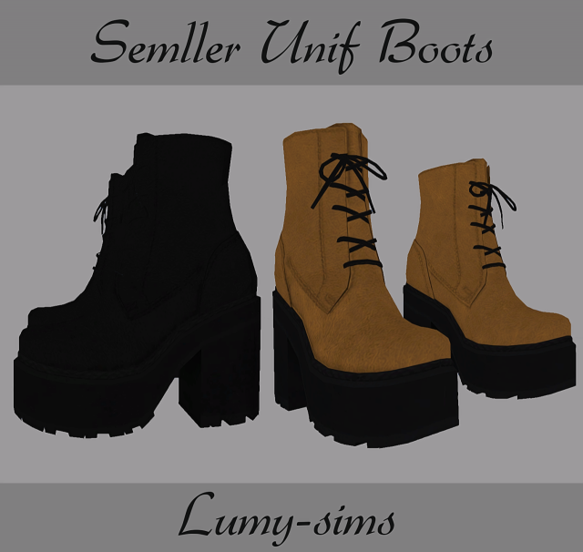 Semller Unif Boots by Lumy-sims