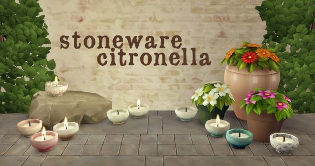 Stoneware Citronella Candles by HamburgerCakes