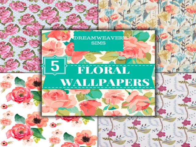 Floral Wallpapers by DreamWeaver Sims