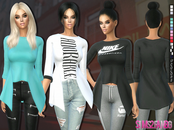 201 - 3D Casual top with sleeves by Sims2fanbg