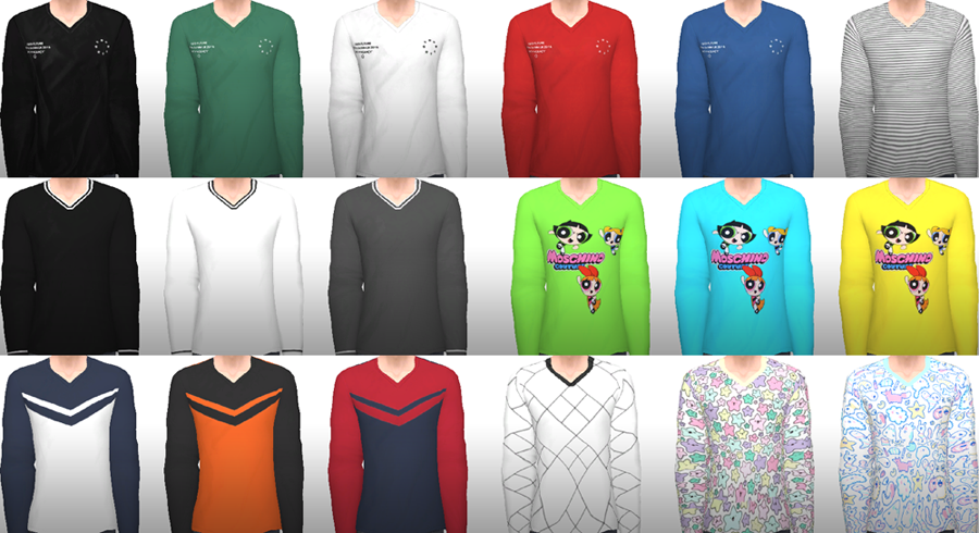 Oversized V-Neck Sweaters by Keysmuse