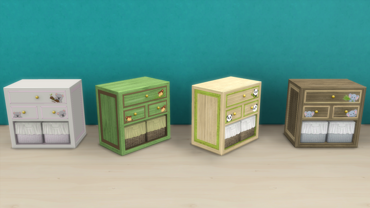 TS3 Animal Abounds Nursery Set Conversion by EnureSims