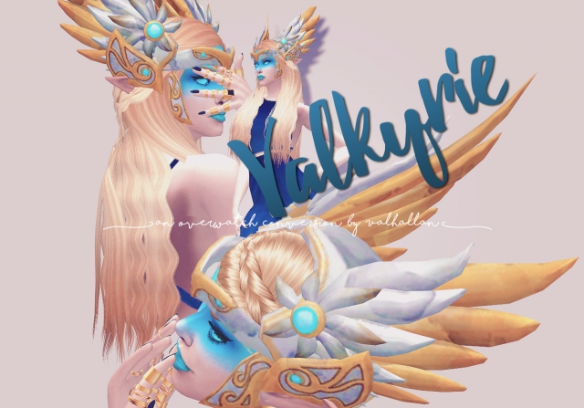 Valkyrie headpiece an Overwatch Mercy conversion by Valhallan