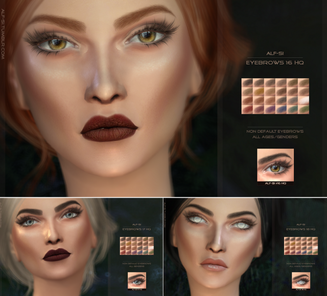 Eyebrows 16, 17, 18 HQ by Alf-si