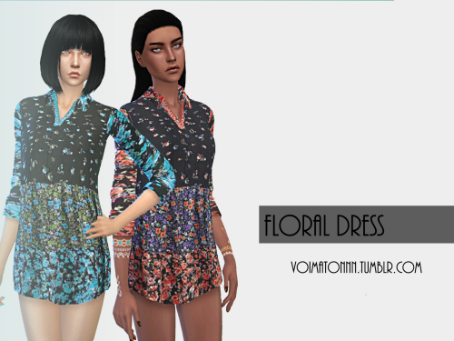 Floral Dress in 12 Colors by Voimatonnn
