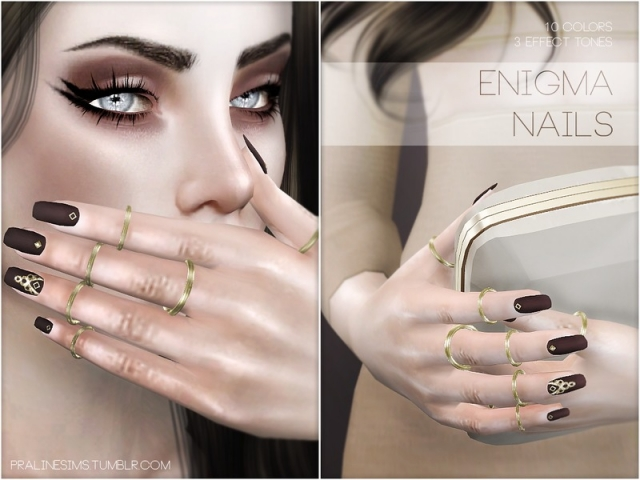 Enigma Nails N15 by Pralinesims