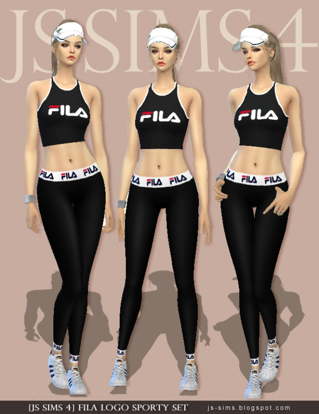 Fila Logo Sporty Set by JS SIMS 4