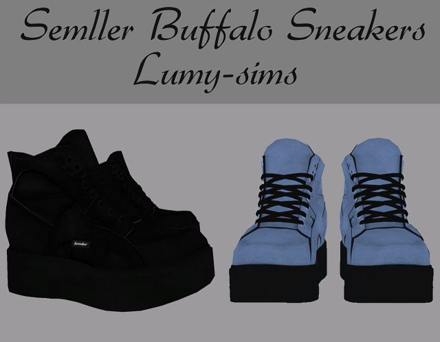 Semller Buffalo Sneakers by Lumy-sims