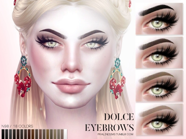 Dolce Eyebrows N98 by Pralinesims