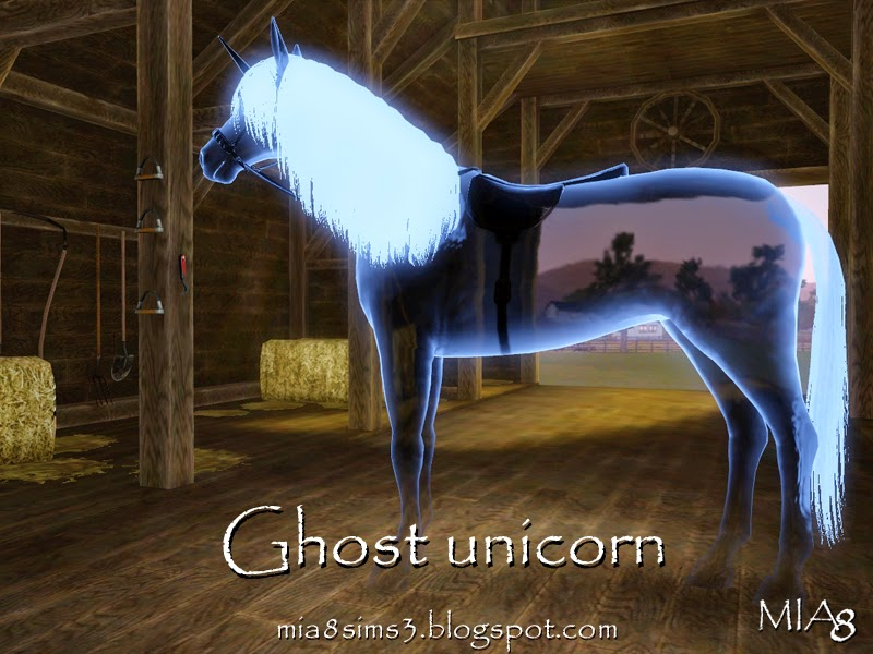 Ghost unicorn by Mia8