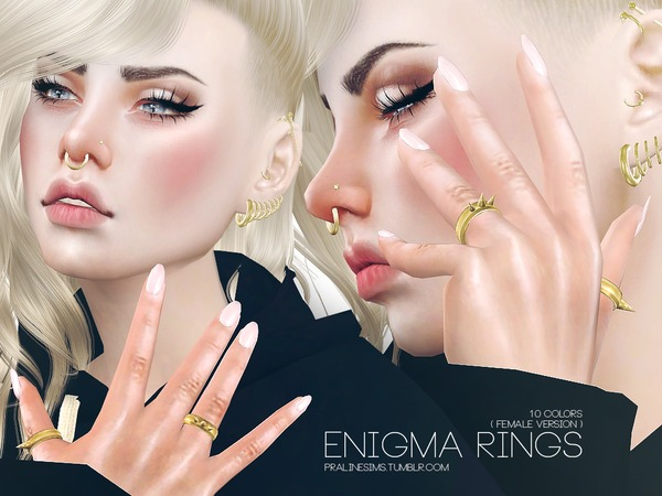 Enigma Rings (Female) by Pralinesims