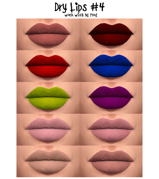 Dry Lips #4 by sims3melancholic