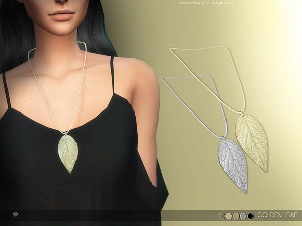 Golden Leaf Necklace by serenity-cc