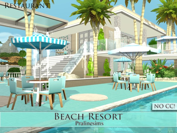 Beach Resort by Pralinesims