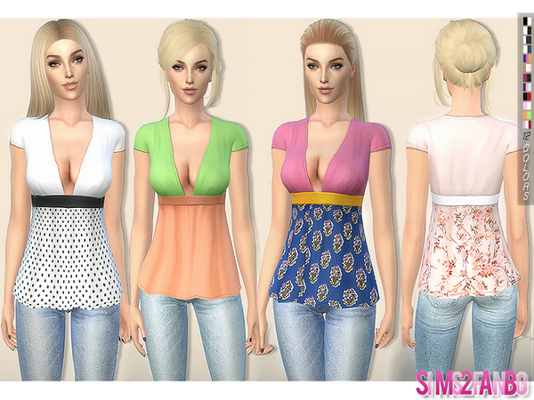 204 - Babydoll top by sims2fanbg