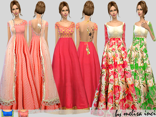 Floral Anarkali Set by melisa inci
