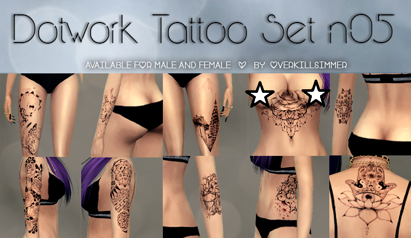 Dotwork Tattoo Set N05 by Overkill Simmer